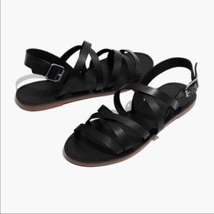 Madewell cross cross sandals!